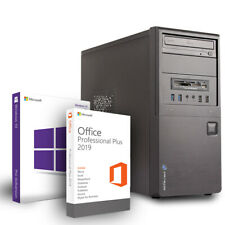 PC System Intel Core i3 2x 3.30GHz 8GB RAM 480GB SSD DVD-RW Win10Pro Office 2019