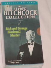 New The Alfred Hitchock Collection Movie VHS Tapes Rich Strange Blackmail Murder