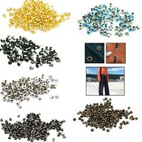 100pcs 3mm Round Brass Eyelets Grommets Washers Leather Craft Shoes Belt Banners