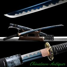 Japanese Ice Soul Samurai Sword Katana Full Tang Blade Sharp Combat Ready #2534