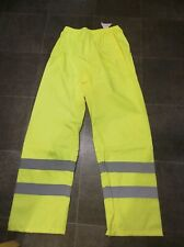 High visibility trousers XL  Waterproof Yellow Keepsafe work safe reflective