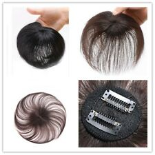 Men Human Hair Topper Clip in Thin Hairpiece Toupee Pieces Wiglet For Women