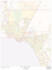 El Paso, Texas Zipcode Laminated Wall Map (MSH)
