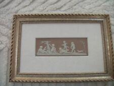 Wedgwood lilac jasper dipped framed plaque cherubs Wedgwood O mark
