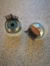 14mm Marrone apertura e chiusura degli occhi a pelo per Teste Vinile con Tasche Occhio