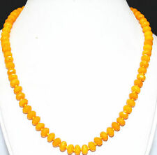 """charming! Brazil 5x8 mm topaz abacus faceted gem necklace 18 """""""