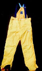 North Face Summit Extreme Yellow Gore-Tex Pro Bib Pant Large Full Zip USA Made