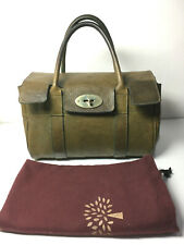 MULBERRY Heritage small classic Bayswater in Olive green  postman's lock vintage