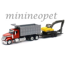 NEW RAY 16623 LONG HAUL TRUCKER INTERNATIONAL LONESTAR DUMP TRUCK EXCAVATOR 1/43