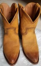Frye Women Billy Short Pull On Leather Boots Cognac Size 6