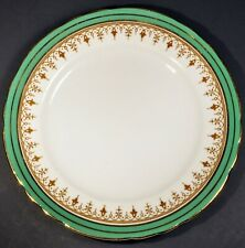 "Aynsley Durham Green 6 1/4"" Dessert Plate w/ Gold Gilding Trim"
