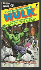 INCREDIBLE HULK Richard Meyers CRY OF THE BEAST 1979 First printing