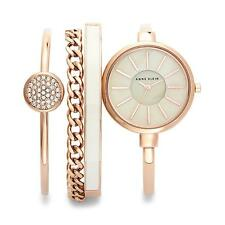 Anne Klein Rose Gold-tone Watch and Bracelet Set Ladies Watch AK-1470RGST