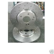 BRAKE DISC FRONT CROSS DRILLED PERFOMANCE JAGUAR S TYPE 2.7D SPORT 06 ON 326MM