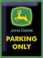 John Deere Parking Solo Grande Goffrato Acciaio Firmare (Na 4030 Verde Confine