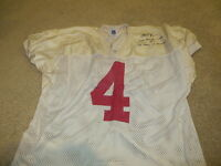 Chris VANCE Game used signed Ohio State Jersey worn
