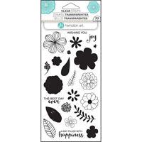 Joy Layering Flower Clear Acrylic Stamp Set by Hampton Art SC0749 NEW!