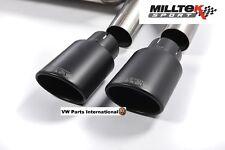 Audi TT MK3 TTS 2.0TFSI Quattro Milltek 4x Black Oval Tips Tail Pipes Trim Only