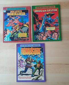 Die großen Comic Abenteuer Nr.1-3 (Ehapa-Verlag) - sehr guter Zustand
