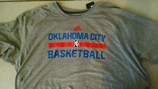 Men's Oklahoma City Thunder adidas Gray On-Court Ultimate T-Shirt-Size XX-LARGE