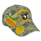 U.S 101st Airborne Division Digital Green Camouflage Medal Adjustble Curved Bill