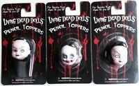 Living Dead Dolls Pencil Toppers set-Sadie, Sybil & Schitzo~Goth~Horror~MOC-Rare