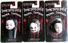 Living Dead Dolls Pencil Toppers set-Sadie, Sybil & Schitzo~Goth~Horror~Moc-R are