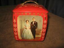 Vintage Queen Elizabeth 1953 Coronation Biscuit Storage Tin Edward Sharp & Sons