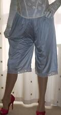 Silver silky nylon vintage style pantie slip~pettipants~culottes~bloomers 20~22