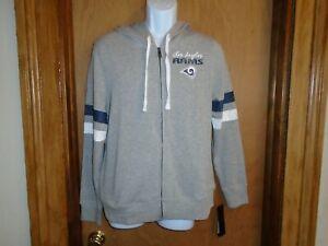 Los Angeles Rams NFL Juniors XL Full Zip Hooded Fleece Jacket NWT