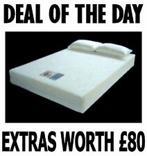 Single size Visco Elastic Memory Foam Mattress FREE P&P+FREE PILLOW+FREE COVER