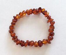 40% SALE! Genuine Baltic Orange Amber Triangular Stretchy Bracelet RRP$59.95