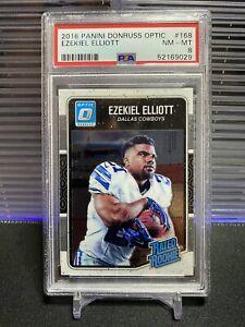 Ezekiel Elliott 2016 Donruss Optic Rated Rookie #168 PSA 8 NM-MT Dallas Cowboys