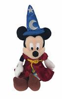 "Mickey Mouse Fantasia Sorcerer 12"" Plush Stuffed  Wizard Walt Disney Parks"