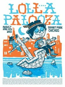 LOLLAPALOOZA MUSIC FESTIVAL 2013 Poster Concert Lineup [Multiple Sizes]