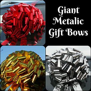 Giant Large Bow for car SHINY METALLIC Christmas Gift Bow + SUPERFAST DISPATCH!!