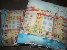 """2 POTTERY BARN VENICE OUTDOOR PILLOWS ,24"""" SQUARE, NEW , beautiful pillows"""