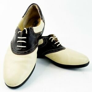 Sesto Golf by Sherry Designer Oxford Leather Golf Shoes Women Sz 7-8M Made Italy