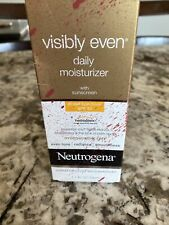Neutrogena Visibly Even Daily Facial Moisturizer With Broad Spectrum Spf 30 Suns