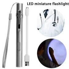 Portable Mini Pocket Penlight USB Rechargeable White LED Flashlight Torch Lamp