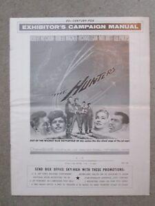 The Hunters  - 1958  Movie Pressbook - Robert Mitchum
