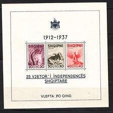 ALBANIA Sc 280 NH SOUVENIR SHEET of 1937 - INDEPENDENCE