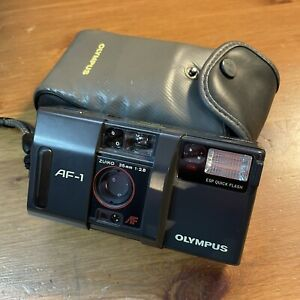 Classic Olympus AF-1 Camera With Original Case FOR PARTS Not Working