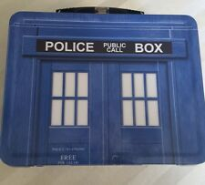 1996 Doctor Who Tardis Limited Edition Collectors Tin Lunch Box / Tote Tv