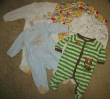 Baby 6 months lot of 5 One-Piece Sleepers Creepers Animals Stripes St. Patty's