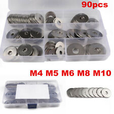 90PC Stainless Steel Washer Flat Ring Assortment Set C Grade Extra Large Sasher