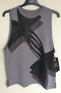 Under Armour Heat Gear Ladies Size S, M or L Overlay Logo Grey Tank Running Vest
