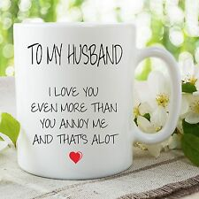 Novedad Divertida Tazas Happy Birthday Marido Humor Adulto Vasos WSDMUG707