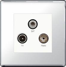 Chrome TV/Coaxial Socket Home Electrical Fittings