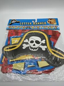 "Pirate Theme Happy Birthday Banner 7ft. X 7"" Kid Party"